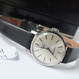 Ladies Longines stainless steel flagship in box