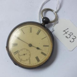 Gents silver pocket watch with seconds dial by Longines