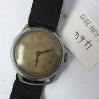 Military wrist watch with seconds hand