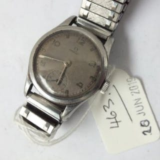 Gents stainless steel Omega wrist watch on strap