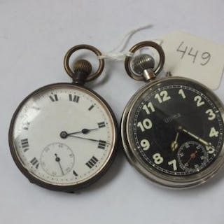 Two metal cased pocket watches