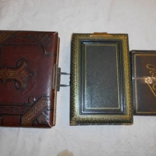 CABINET PHOTO ALBUMS 2 Victorian cabinet photo albumsm c. 1880 (1