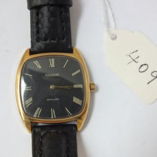 Gents Tissot stylist Black faced wrist watch