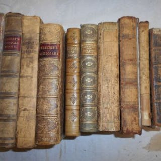 VARIOUS ANTIQUARIAN & LEATHER BINDINGS incl. AIKIN, J. England Delineated...