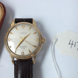 Gents 9ct Mappin automatic wrist watch in case marked Mappin and Webb