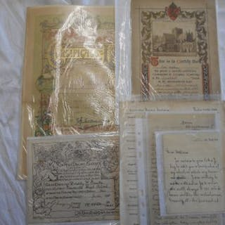 SCHOOL RELATED EPHEMERA a collection of letters, reports, etc. relating