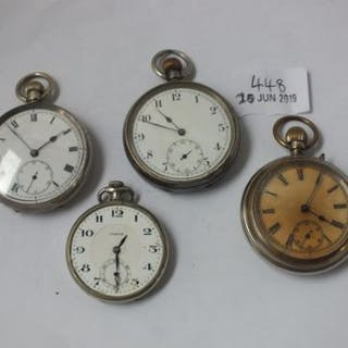 Four gents pocket watches