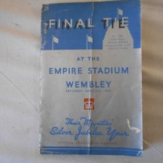 FOOTBALL CUP FINAL PROGRAMME 1935 Sheffield Wednesday v. West Bromich Albion