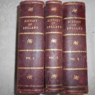 HUME, D. SMOLLETT, T. & NOLAN, E. The History of England 3 vols. c.1870