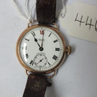 9ct Longines wrist watch with seconds dial