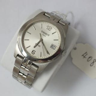Gents stainless steel Tissot wrist watch with PR50 with seconds sweep