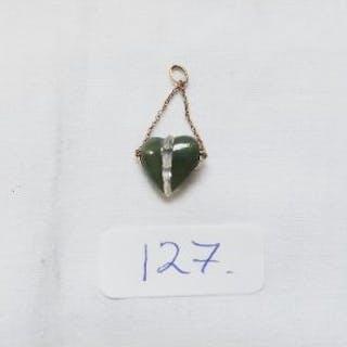 Nephrite heart pendant
