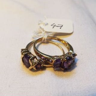 Four 9ct gem stone rings 8.7g inc