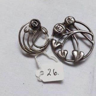Two more stylish silver brooches