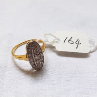 Gold & diamond marquise ring approx size K