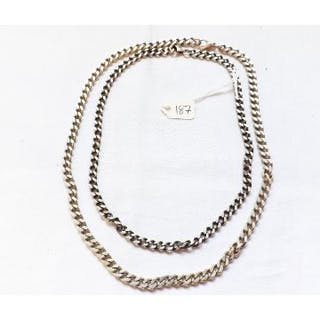 Two silver chains 89g