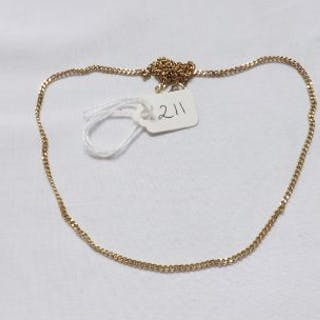 9ct fine link curb chain necklace 6.2g