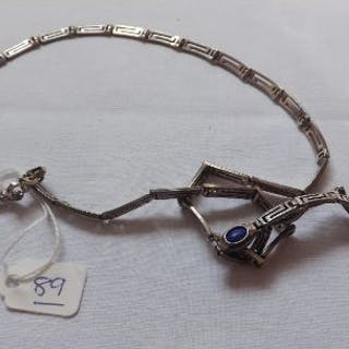 Silver necklace and bracelet 34g