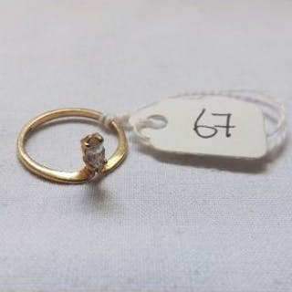 9ct single stone set teardrop ring