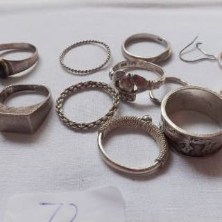 Bag silver rings 32g inc