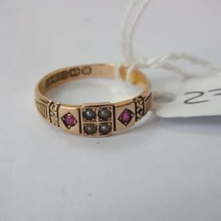 Antique 15ct. gold and ruby ring 2.1g
