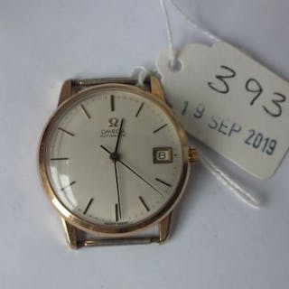 OMEGA 9ct. gents automatic wrist watch with seconds sweep and date