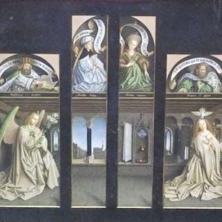 Jan Van Eyck (1390-1441) - Hubert Van Eyck, The Annunciation with