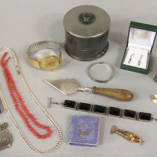 Mixed collection of jewellery and bijouterie to include an articulated