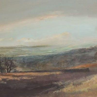 Roy Hewish (British b.1929) - November Afternoon - landscape, oil
