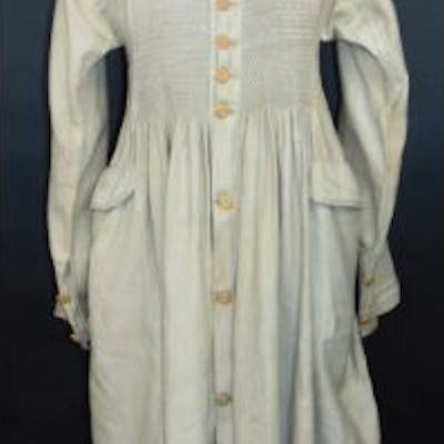 19th century shepherd/agricultural workers smock, button front coat