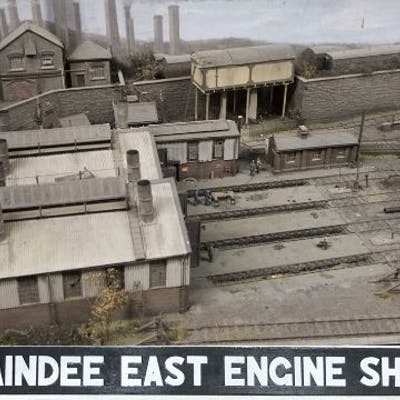 The Maindee East Engine Shed. Constructed by Steffan Lewis. Track