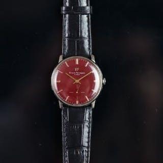 VINTAGE GIRARD-PERREGAUX AUTOMATIC, red circular dial, baton hour