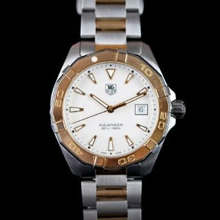 GENTLEMEN'S TAG HEUER AQUARACER 300M REFERENCE WAY1151, circular cream