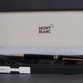 MONTBLANC MEISTERSTUCK BALLPOINT, black frame, gilt detail, ball point