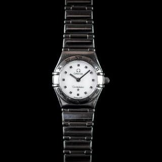 LADIES OMEGA CONSTELLATION, circular mother of pearl dial, dot hour