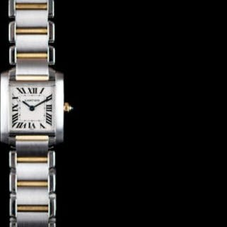 LADIES CARTIER TANK FRANCAISE REFERENCE 2300, white square dial with