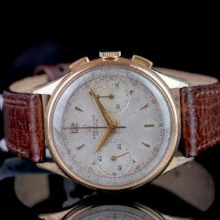 VINTAGE BREITLING CHRONOGRAPH, circular dial, signed Breitling Geneve