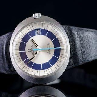 GENTLEMEN'S OMEGA DYNAMIC 107, round, blue/white bicolour dial, date