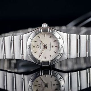 LADIES OMEGA CONSTELLATION MINI 573184O8, round, silver dial and hands