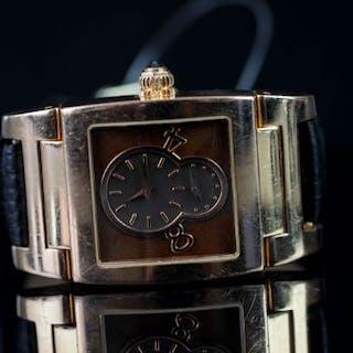 GENTLEMEN'S 18K GOLD DE GRISOGONO INSTRUMENTIO 008378 WITH BOX AND