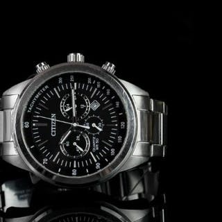 GENTLEMANS CITIZEN ECO DRIVE CHRONOGRAPH GN-4-S, stainless steel