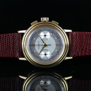 GENTLEMEN'S TISSOT 18KT GOLD VINTAGE CHRONOGRAPH REF. 40003, circular