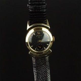 GENTLEMEN'S LORD ELGIN MANUAL WIND WRISTWATCH, 28mm circular 14k gold