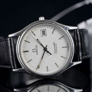 GENTLEMEN'S OMEGA SEAMASTER , round silver dial and hands, silver