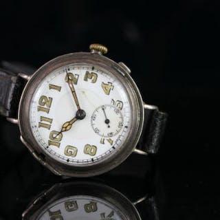 GENTLEMANS VINTAGE DRESS WATCH CIRCA 1936, round, white dial with