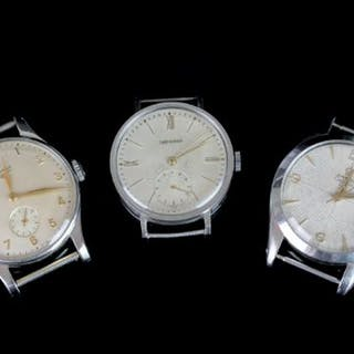 GROUP OF 3 VINTAGE LONGINES AND OMEGA WATCHES, longines calatrava