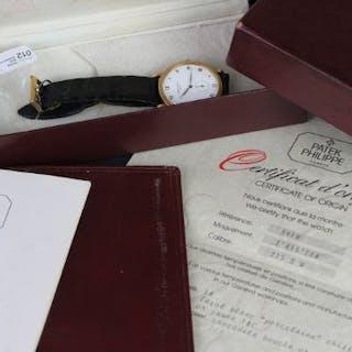 GENTS PATEK PHILIPPE CALATRAVA MODEL 3919 CIRCA 1980,white dial with