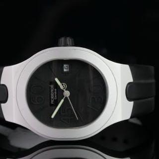 GENTLEMEN'S ROBERGE ALTIER 10515145 NO 0102, oval, black carbon dial