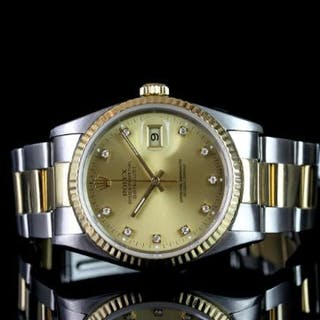 GENTLEMANS ROLEX DATEJUST MODEL 6233 SN X809264 CIRCA 1991, round