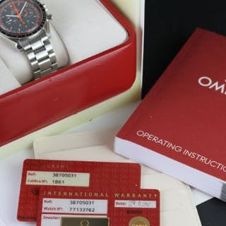 GENTLEMENS OMEGA SPEEDMASTER CHRONOGRAPH WRISTWATCH W/ BOX & PAPERS